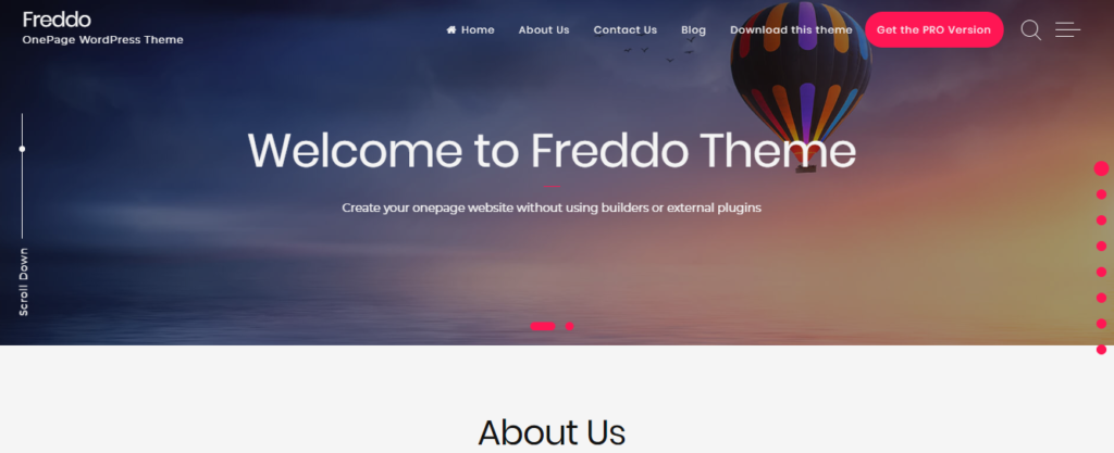 Freddo Free WordPress Theme - Innovware